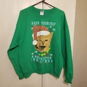 Christmas Sweatshirts size L green